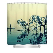 Paddle Board Adventure Shower Curtain