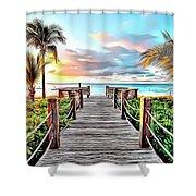 1 Paradise Pier Shower Curtain