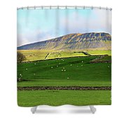Penyghent In Yorkshire Dales National Park North Yorkshire Shower Curtain