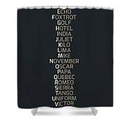 Phonetic Alphabet Shower Curtain