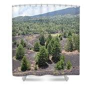 Photography Landscape Shot From The Etna National Park On Sicily Shower Curtain