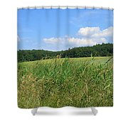 Photography Landscape With Fields In Germany Shower Curtain