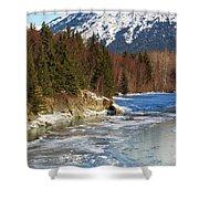 Portage Creek Portage Glacier Highway, Alaska Shower Curtain