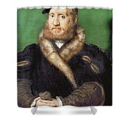 Portrait Of A Bearded Man With A Fur Coat  Shower Curtain
