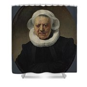 Portrait Of Aechje Claesdr   Shower Curtain