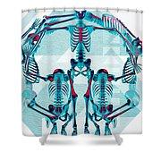 Pulchra Mors / Rgb Geometric Shower Curtain