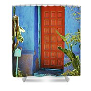 Red Door Adobe Shower Curtain