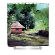 Red House R Shower Curtain