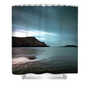 Rhossili Bay And Worms Head Shower Curtain