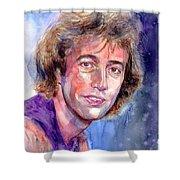 Robin Gibb Portrait Shower Curtain