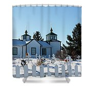 Russian Orthodox Church Ninilchik Alaska Shower Curtain