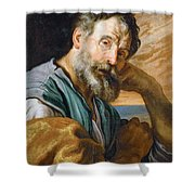 Saint Peter Repenting  Shower Curtain