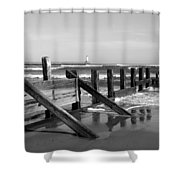 Sea Barrier Shower Curtain