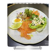Seafood Platter Shower Curtain
