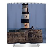 Seaham Lighthouse Shower Curtain