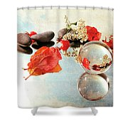Seasons In A Bubble Shower Curtain