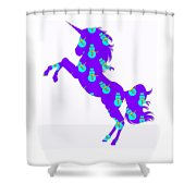 Snowman Wrapping Paper Unicorn Shower Curtain