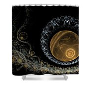 Somewhere In The Universe-2 Shower Curtain