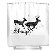 Stag Patronus Shower Curtain