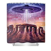 Stonehenge Ufo Shower Curtain