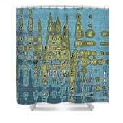 Summer Squash Abstract  Shower Curtain