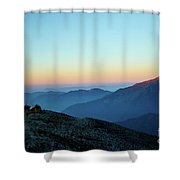 Sunrise Above Mountain In Valley Himalayas Mountains Mardi Himal Shower Curtain