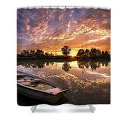 Sunset Boat Shower Curtain