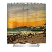 Sunset On Bradenton Beach, Fl. Shower Curtain