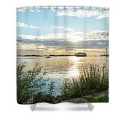 Sunset On The Elbe Shower Curtain
