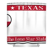 Texas State License Plate Shower Curtain