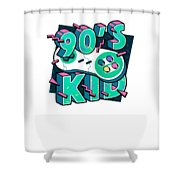 The 90s Gaming Born In The 90s Old Time Gaming Shower Curtain