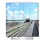 The Birdwalk Shower Curtain