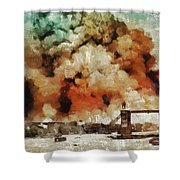 The Blitz, Wwii Shower Curtain