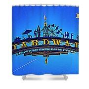 The Boardwalk Shower Curtain by Paul Wear