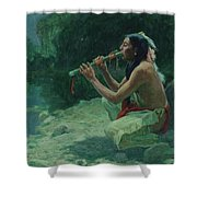 The Call Of The Flute Shower Curtain
