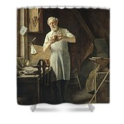 The Coppersmith  Shower Curtain