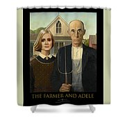 The Farmer And Adele Shower Curtain