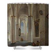The Interior Of The Buurkerk At Utrecht  Shower Curtain