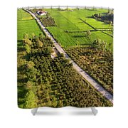 The Road Shower Curtain by Okan YILMAZ