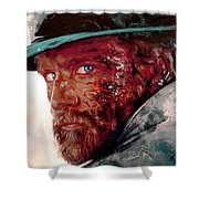 The Wounded Cowboy Shower Curtain