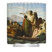 Tiberius Exiles  Shower Curtain