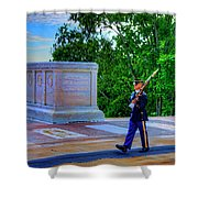 Tomb Of The Unknown Soldier Painting Shower Curtain