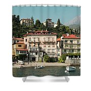 Town In The Shore Of Lake Como Shower Curtain