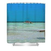 Tropical Days Bucket List Shower Curtain