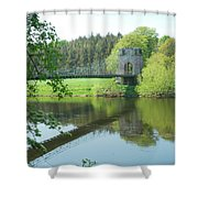 Union Bridge At Horncliffe On River Tweed Shower Curtain