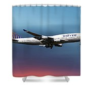 United Airlines Boeing 747-422 Shower Curtain