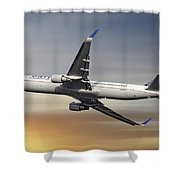 United Airlines Boeing 767-322 Shower Curtain