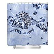 Venice Italy City Map Shower Curtain