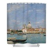 Venice, Santa Maria Della Salute From San Giorgio - Digital Remastered Edition Shower Curtain
