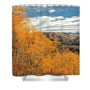 View Of Peaks Shower Curtain